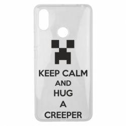 Чехол для Xiaomi Mi Max 3 KEEP CALM and HUG A CREEPER