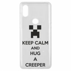 Чехол для Xiaomi Mi Mix 3 KEEP CALM and HUG A CREEPER