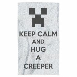 Полотенце KEEP CALM and HUG A CREEPER