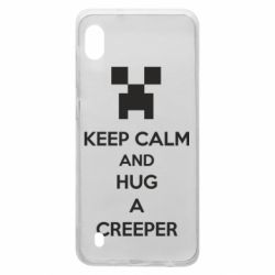 Чехол для Samsung A10 KEEP CALM and HUG A CREEPER