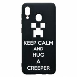 Чехол для Samsung A20 KEEP CALM and HUG A CREEPER