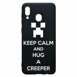 Чехол для Samsung A30 KEEP CALM and HUG A CREEPER
