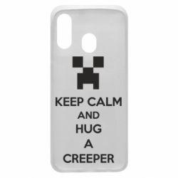 Чехол для Samsung A40 KEEP CALM and HUG A CREEPER
