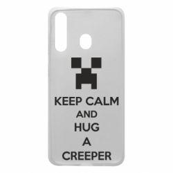 Чехол для Samsung A60 KEEP CALM and HUG A CREEPER