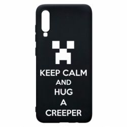 Чехол для Samsung A70 KEEP CALM and HUG A CREEPER