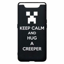 Чехол для Samsung A80 KEEP CALM and HUG A CREEPER