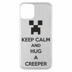 Чехол для iPhone 11 KEEP CALM and HUG A CREEPER