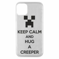 Чехол для iPhone 11 Pro KEEP CALM and HUG A CREEPER