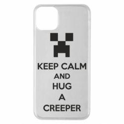 Чехол для iPhone 11 Pro Max KEEP CALM and HUG A CREEPER