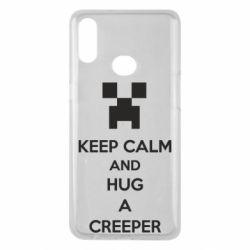 Чехол для Samsung A10s KEEP CALM and HUG A CREEPER