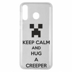 Чехол для Samsung M30 KEEP CALM and HUG A CREEPER