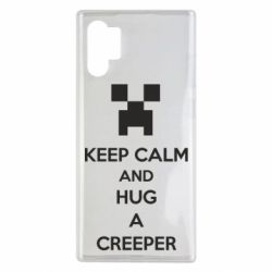 Чехол для Samsung Note 10 Plus KEEP CALM and HUG A CREEPER