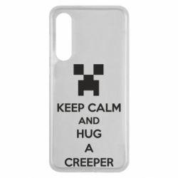 Чехол для Xiaomi Mi9 SE KEEP CALM and HUG A CREEPER
