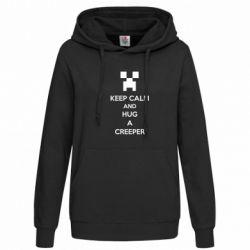 Женская толстовка KEEP CALM and HUG A CREEPER