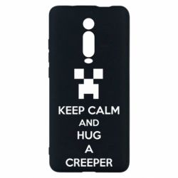 Чехол для Xiaomi Mi9T KEEP CALM and HUG A CREEPER