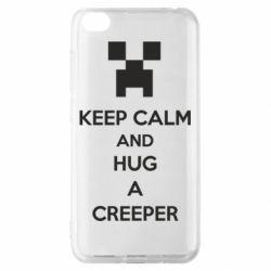 Чехол для Xiaomi Redmi Go KEEP CALM and HUG A CREEPER