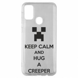 Чехол для Samsung M30s KEEP CALM and HUG A CREEPER