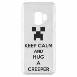 Чехол для Samsung S9 KEEP CALM and HUG A CREEPER