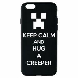 Чехол для iPhone 6/6S KEEP CALM and HUG A CREEPER