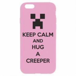 Чехол для iPhone 6 Plus/6S Plus KEEP CALM and HUG A CREEPER