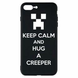 Чехол для iPhone 7 Plus KEEP CALM and HUG A CREEPER