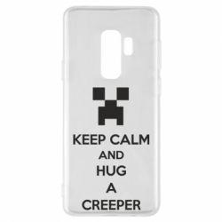 Чехол для Samsung S9+ KEEP CALM and HUG A CREEPER