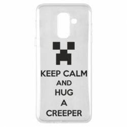 Чехол для Samsung A6+ 2018 KEEP CALM and HUG A CREEPER