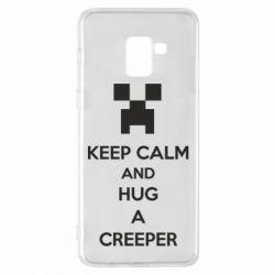 Чехол для Samsung A8+ 2018 KEEP CALM and HUG A CREEPER