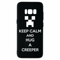 Чехол для Samsung S8 KEEP CALM and HUG A CREEPER