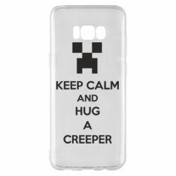 Чехол для Samsung S8+ KEEP CALM and HUG A CREEPER