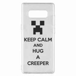 Чехол для Samsung Note 8 KEEP CALM and HUG A CREEPER