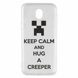 Чехол для Samsung J5 2017 KEEP CALM and HUG A CREEPER