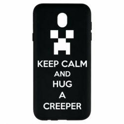 Чехол для Samsung J7 2017 KEEP CALM and HUG A CREEPER