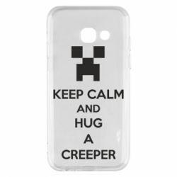 Чехол для Samsung A3 2017 KEEP CALM and HUG A CREEPER
