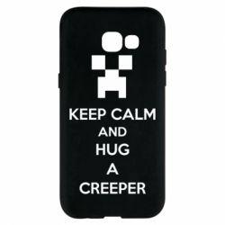 Чехол для Samsung A5 2017 KEEP CALM and HUG A CREEPER