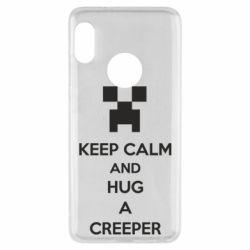 Чехол для Xiaomi Redmi Note 5 KEEP CALM and HUG A CREEPER