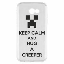 Чехол для Samsung A7 2017 KEEP CALM and HUG A CREEPER