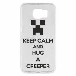 Чехол для Samsung S6 KEEP CALM and HUG A CREEPER
