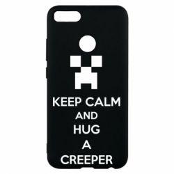 Чехол для Xiaomi Mi A1 KEEP CALM and HUG A CREEPER