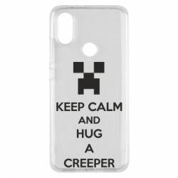 Чехол для Xiaomi Mi A2 KEEP CALM and HUG A CREEPER