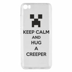 Чехол для Xiaomi Mi5/Mi5 Pro KEEP CALM and HUG A CREEPER