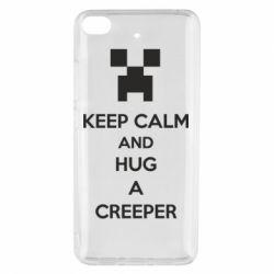 Чехол для Xiaomi Mi 5s KEEP CALM and HUG A CREEPER