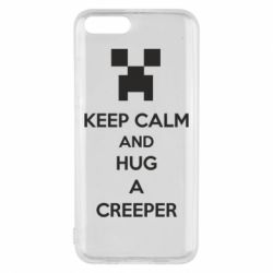 Чехол для Xiaomi Mi6 KEEP CALM and HUG A CREEPER