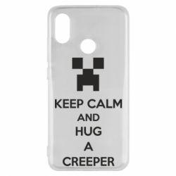 Чехол для Xiaomi Mi8 KEEP CALM and HUG A CREEPER