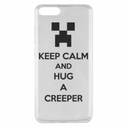 Чехол для Xiaomi Mi Note 3 KEEP CALM and HUG A CREEPER