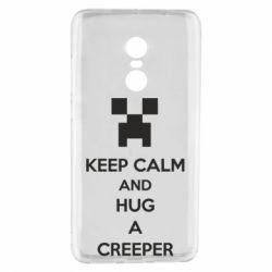 Чехол для Xiaomi Redmi Note 4 KEEP CALM and HUG A CREEPER