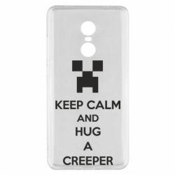 Чехол для Xiaomi Redmi Note 4x KEEP CALM and HUG A CREEPER