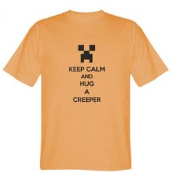 Мужская футболка KEEP CALM and HUG A CREEPER - FatLine