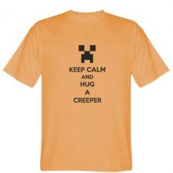 Мужская футболка KEEP CALM and HUG A CREEPER