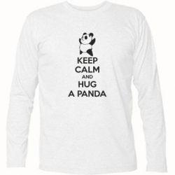 Футболка з довгим рукавом KEEP CALM and HUG A PANDA